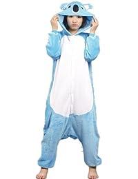 Autek Animaux Onesie unisexe Costume de déguisement Hoodies pyjamas sommeil porte le bleu Koala (PJ-BlueKoala)