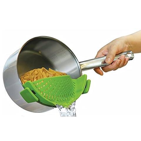 HENGSONG Crépine Alimentaire Silicone Clip-sur l'écran pour Poêles Bols Cuisine
