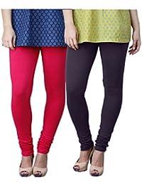 Limeberry Women's Cotton Legging Pack of 2 (LB-2PCK-LEGG-CMB-3_Multicolor)
