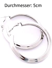 Creole Damen Silber 5cm