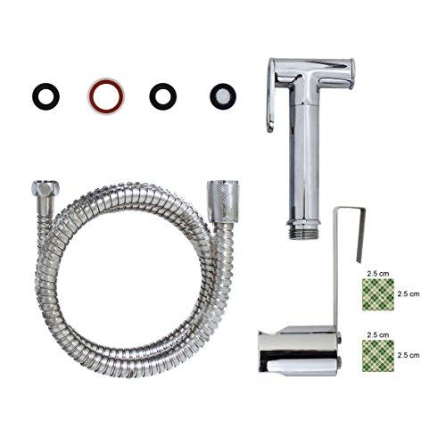 modona Premium WC-Spray & Bidet Set-Messing massiv-poliert chrom-5Jahr Vorteil