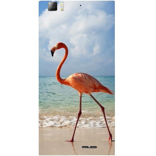 Casotec Egret Bird on Sea Design Hard Back Case Cover for Lenovo K900  available at amazon for Rs.149