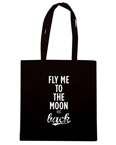 T-Shirtshock - Borsa Shopping CIT0082 fly me to the moon Nero
