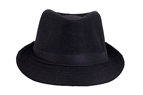 faas Fedora Hat Black for Boys & Girls Age 6 to 12 yrs.FH02