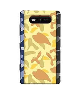 PrintVisa Designer Back Case Cover for Nokia Lumia 820 (Jaipur Rajasthan Tribal Azitec Mobiles Indian Traditional Wooden)