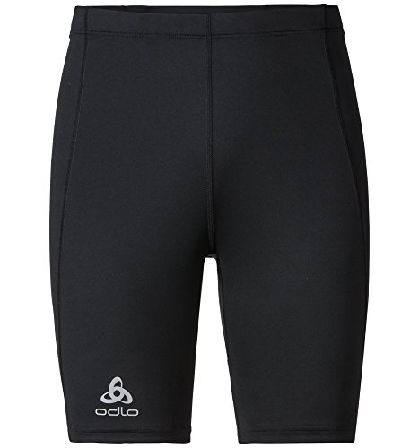 Odlo Herren Tights Short Sliq Laufhose, Black, XL (Tight Herren Shorts Running)