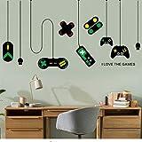 Dekorative kronleuchter wandaufkleber gamer schlafzimmer internet cafes studie computer schreibtisch hintergrund aufkleber