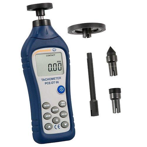 PCE Instruments Kontaktierender Umdrehungsmesser PCE-DT 66 zum Messen von Drehzahlen