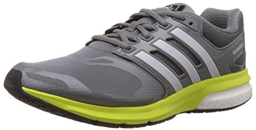 Adidas Questar Boost Techfit Scarpe da corsa - SS15 - 8.5 - Grigio Grey