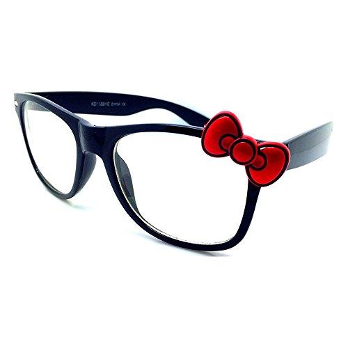Kiss Brillen in neutralen stil HELLO KITTY - optischen rahmen FRAU cool fashion EXTRAVAGANTE - SCHWARZ/rot