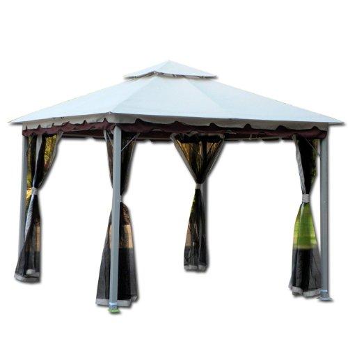 Gazebo per arredo giardino mod. smeralda struttura acciaio cm 300x300x270 smeralda