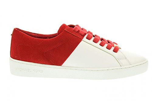 MICHAEL KORS femmes baskets basses 43R6TOFS1S TOBY LACE UP Bianco-Rosso