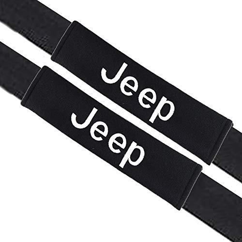 VILLSION 2Pack Almohadillas para cinturón de seguridad Auto accesorios Jeep, Algodón suave protege tu cuello y hombros para adultos y niños