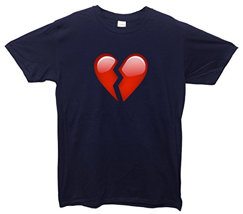 Broken Heart Emoji T-Shirt Navy