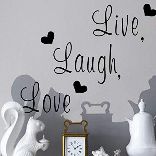 huangshi Wandaufkleber Leben Lachen Liebe Zitate Vinyl Kunst Wandbilder Wandtattoos Für Wohnzimmer Schlafzimmer Kinderzimmer Wohnkultur (Leben, Lieben, Lachen Bilderrahmen)