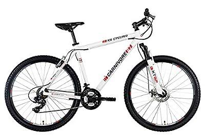 KS Cycling Fahrrad Mountainbike MTB Hardtail Carnivore, Weiß, 27.5 Zoll, 542M