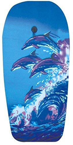 EXPLORER Bodyboard DELFIN 94x47x5cm Schwimmboard Board Surf Wal mit Halteleine und Klett Surfboard Schwimmbrett Strand Wasser Sommer Wellen Wellenreiten