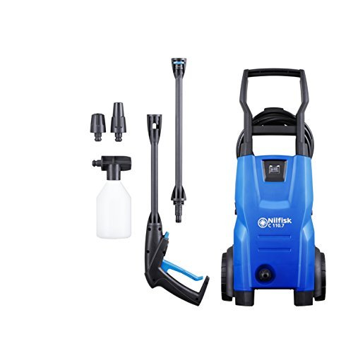 Nilfisk C 110 bar 110.7-5 X-TRA Compact Pressure Washer for Basic Tasks – Outdoor Cleaner – 440 L/H Water Flow (Blue)