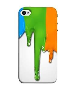 PrintVisa Designer Back Case Cover for Apple iPhone 4S (Paint Color Fall Liquid Design)