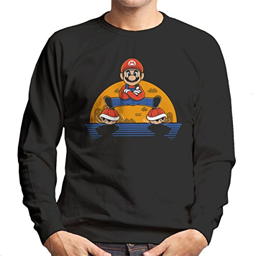 Plumber Split Super Mario Bros Men's Sweatshirt
