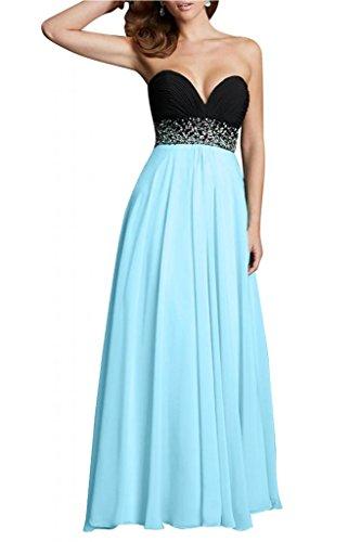 Toscana sposa Glamour da donna in acciaio inox a forma di cuore Chiffon sera vestimento lungo dal giovane sposa Bete Ball Party vestimento Blu