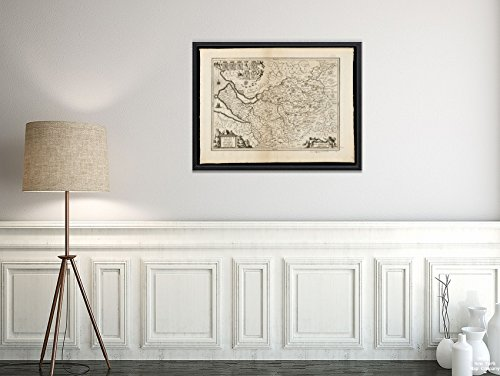 New York Map Company LLC 1646-1680 Karte Großbritannien; Cheshire; Cestria Comitatus Palatinus = Der Countye Palatine of Ches; Historischer Vintage-Stil, Nachdruck, fertig zum Einrahmen -