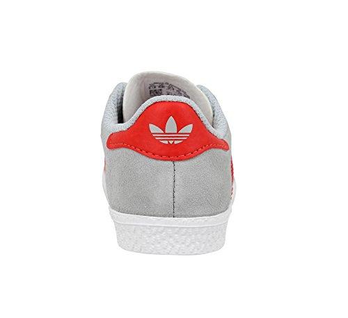 Adidas Originals Gazelle 2 Infant Solar Blue Suede Trainers Gris Rouge
