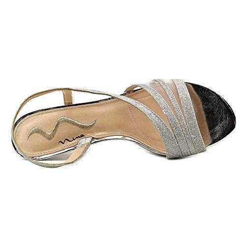 Nina Nelda Femmes Synthétique Sandales Silver Glitter
