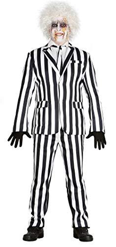 loween Gangster Herren Kostüm Anzug Gefangener Sträfling M/L, Größe:L ()
