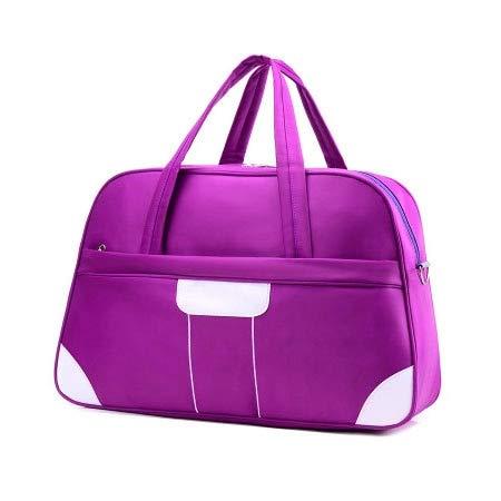 Professionelle Nylon wasserdichte Sport Sporttasche Frauen Männer für die Turnhalle Fitness Training Schulter Handtaschen Tasche Yoga Bag Gepäck, lila klein