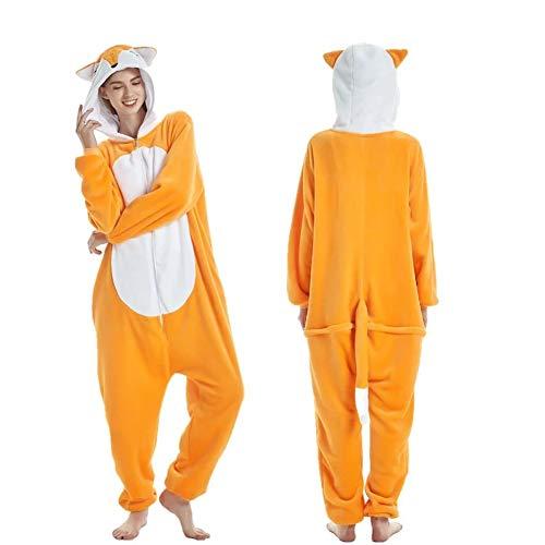 homesave Homesave Winter Warm Cute Fox Kostüm Erwachsene Unisex Pajama,S