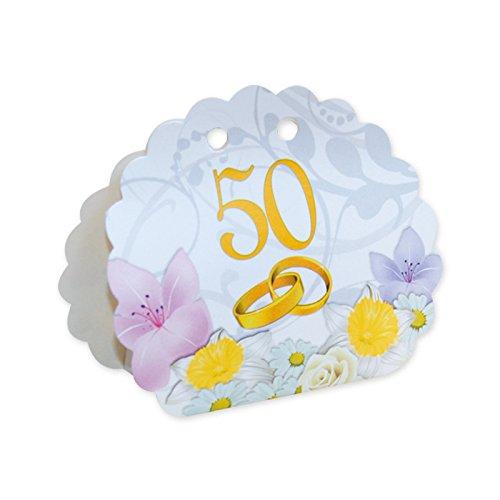 25 x scatolina portaconfetti nozze d' oro 50 anniversario matrimonio bomboniera 813166