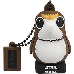 Tribe Star Wars 8 Porg Chiavetta USB da 32 GB Pendrive Memoria USB Flash Drive 2.0 Memory Stick, Idee Regalo Originali, Figurine 3D, Archiviazione Dati USB con Portachiavi
