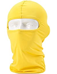 Unisexo Pasamontañas - Equipamiento Deportivo / A Prueba de Viento / Dustproof Balaclava / Riding Mascarilla ajustable, amarillo