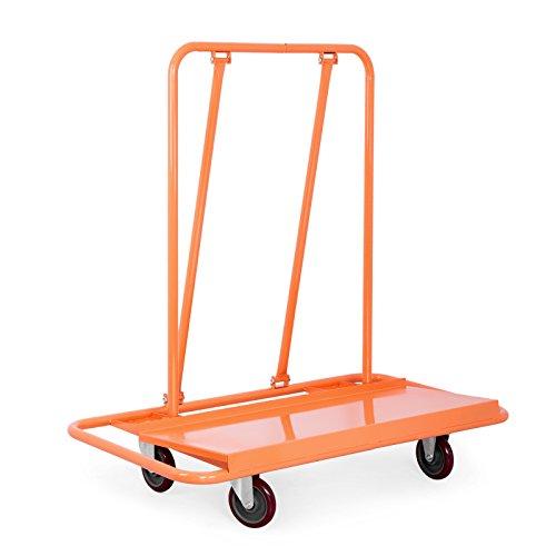 VEVOR Cartongesso Carrello 907kg Capacità di carico Alzalastre per Cartongesso Cartongesso Foglio camion Pannello di Mano Heavy Duty Ruote (907kg)