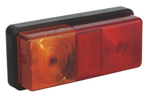 Sealey TB191 - 12v 3-función rectangular trasera conjunto de luces con bombillas