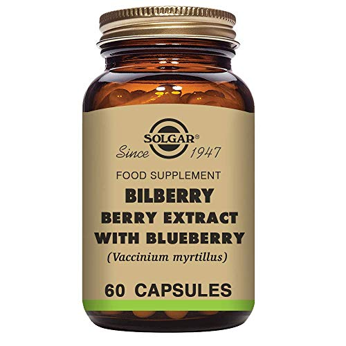 Solgar Mirtilo Berry Extract with Cranberry Vegetable Capsules - 60 Container