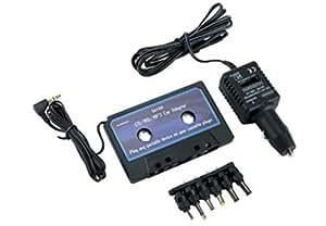 Adaptateur CD/MP3/MD pour auto-radio K7 avec alim. Allume cigare