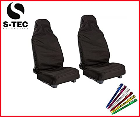CHEVROLET CAMARO CONVERTIBLE S-tech Front Seat Protectors/Covers 1+1 (BLACK) |