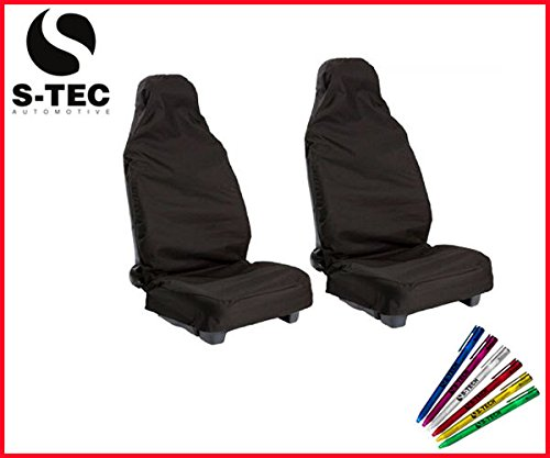 cadillac-sts-s-tech-front-seat-protectors-covers-1-1-black-heavy-duty-water-resistant-free-s-tech-pe