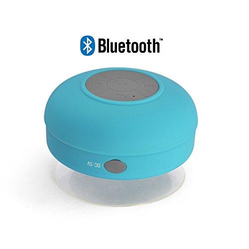 Incutex BS-1 Wasserdichter Drahtloser Bluetooth Dusche-Auto-Saug-Lautsprecher, Blau