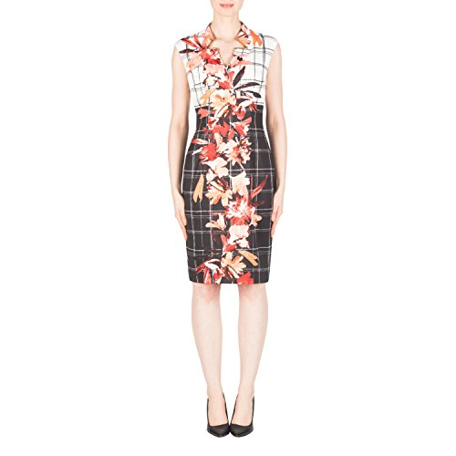 Joseph Ribkoff Graphic Floral Print Cap Sleeve Dress Style 183764