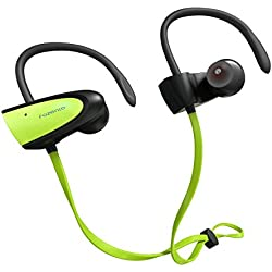 SGIN Auriculares Bluetooth, Inalámbricos Bluetooth V4.2 in-ear Headset Deportes Auriculares Con Micrófono para iPhone,ipad, Android, Windows Smartphones(verde) - Fozento