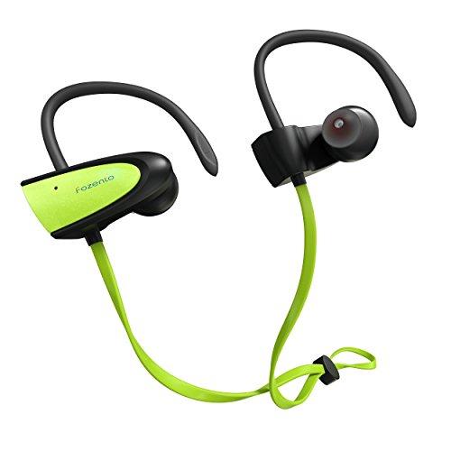 SGIN Bluetooth Kopfhörer, Kabellos Sport Kopfhörer Bluetooth V4.2 In-Ear Ohrhörer, Wasserfest Headset mit Mikrofon für Joggen, Workout, Fitness für iPhone, Android und Tablet(Grün) - Fozento