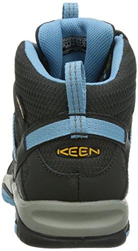 Keen  MARSHALL MID WP W, Chaussures Multisport Outdoor femme Noir - Schwarz (RAVEN/ALASKA BLUE)