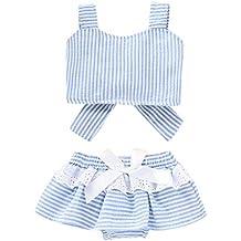 Luckycat Ropa para Chicas, Rayas Camisa del patrón de la Muchacha Pone en Cortocircuito la