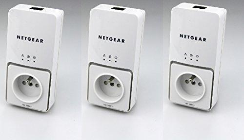 3 x Netgear Powerline Adapter 200Mbps Netzwerk Steckdose XAV2501