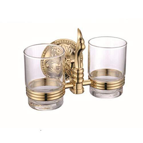 Usopu Continental Antique Gold Kupfer Bad Zubehör Zahnbürste Becherhalter Double -