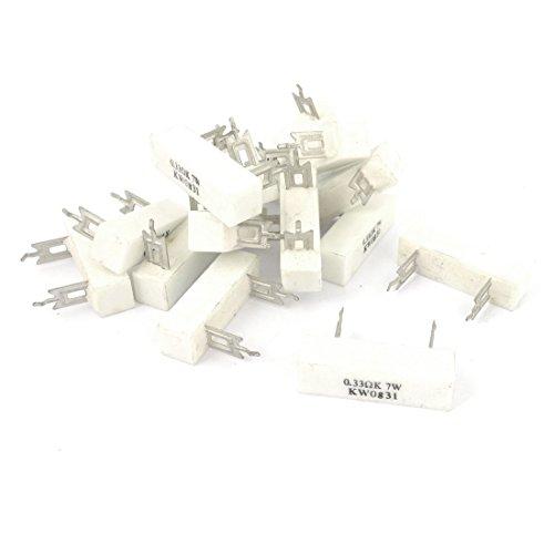 sourcingmapr-15-pezzi-033-ohm-10-di-tolleranza-7-watt-resistore-di-alimentazione-di-cemento-ceramico