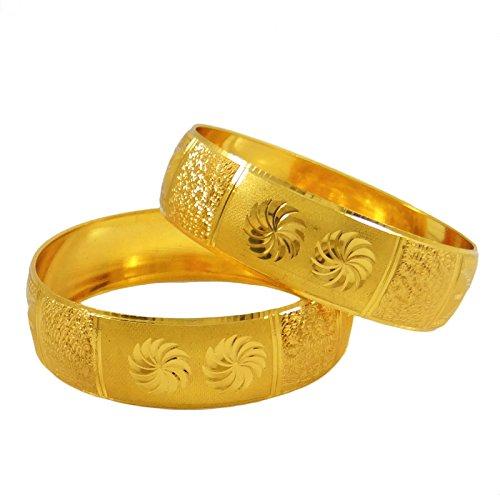 Banithani traditionelle ethnische vergoldet kada armbänder indian bangles schmuck 2 * 6
